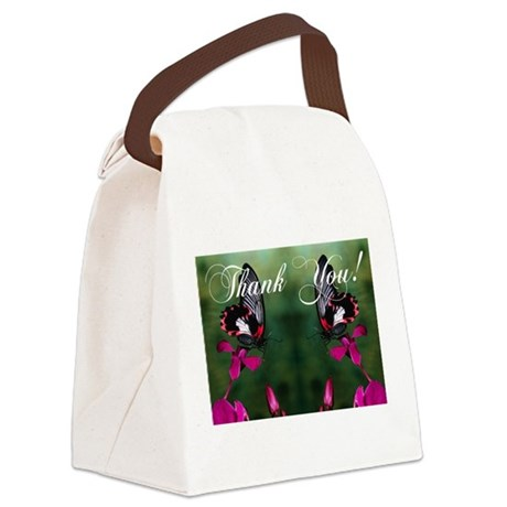 butterflies1a.jpg Canvas Lunch Bag