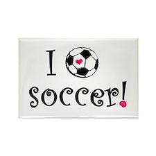 I Love Soccer Rectangle Magnet (100 pack)