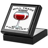 Wine For Husband Keepsake Box
