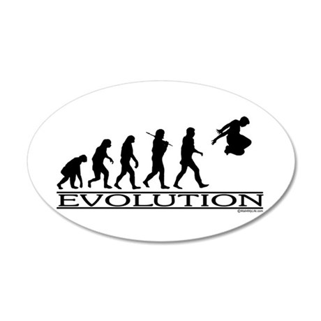 Evolution Parkour 35x21 Oval Wall Decal