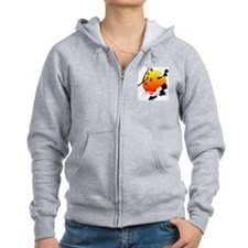 Crane Pair Flying Across Sunrise Zip Hoodie