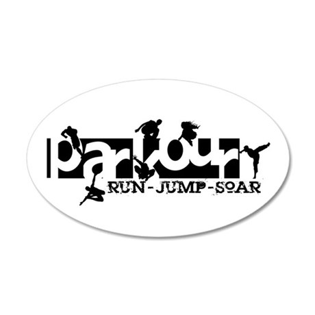 Parkour 35x21 Oval Wall Decal