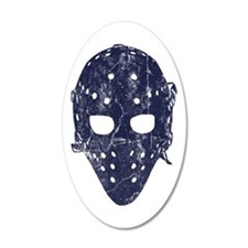 Vintage Hockey Goalie Mask (dark) Wall Decal