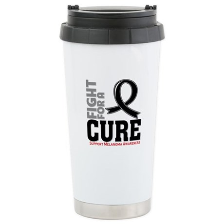 Melanoma Fight For A Cure Ceramic Travel Mug