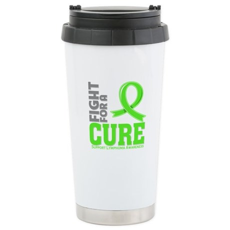 Lymphoma Fight For A Cure Ceramic Travel Mug
