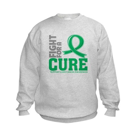Liver Cancer Fight For A Cure Kids Sweatshirt