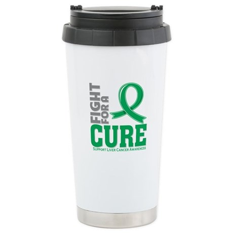 Liver Cancer Fight For A Cure Ceramic Travel Mug