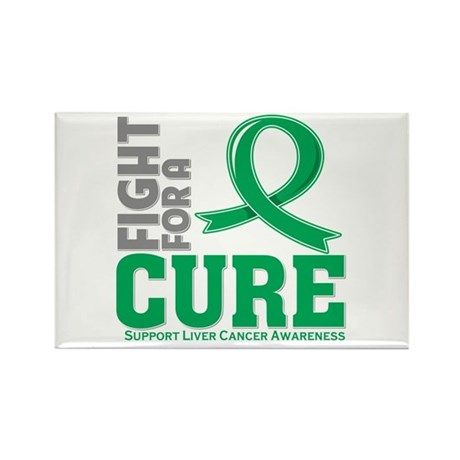 Liver Cancer Fight For A Cure Rectangle Magnet