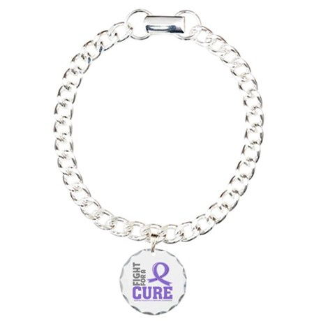 Hodgkins Lymphoma Fight For A Cure Charm Bracelet,