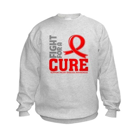 Heart Disease Fight For A Cure Kids Sweatshirt