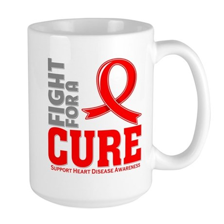 Heart Disease Fight For A Cure Large Mug