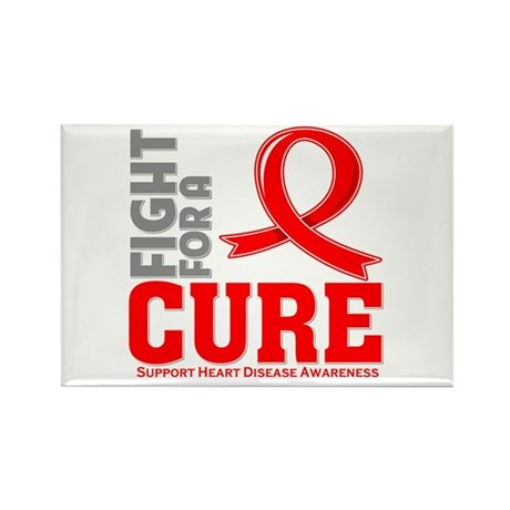 Heart Disease Fight For A Cure Rectangle Magnet