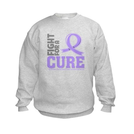 General Cancer Fight For A Cure Kids Sweatshirt