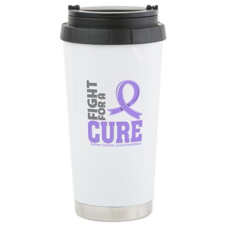 General Cancer Fight For A Cure Ceramic Travel Mug