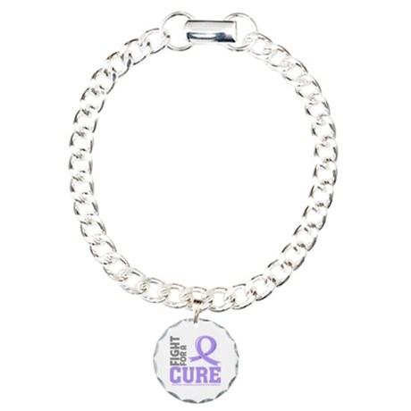 General Cancer Fight For A Cure Charm Bracelet, On