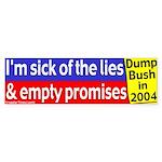 Bush's Lies and Promises Bumper Sticker