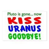 Pluto Gone, Kiss Uranus Goodbye Postcards (Package