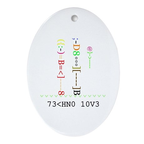 TECHNO LOVE - Oval Ornament