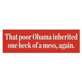 Obamas Inheritance Bumper Sticker