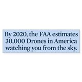 Drone Facts Bumper Sticker