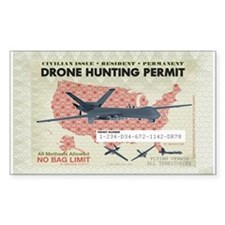 Drone Hunting Permit Decal