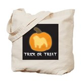 "English Bulldog ""Trick or Treat"" Tote Bag"