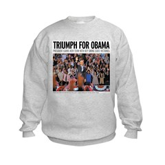 Triumph for Obama Kids Sweatshirt