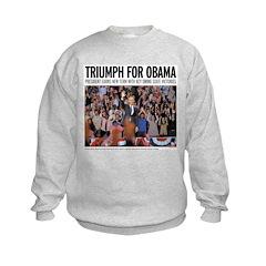 Triumph for Obama Kids Sweatshirt