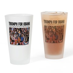 Triumph for Obama Drinking Glass