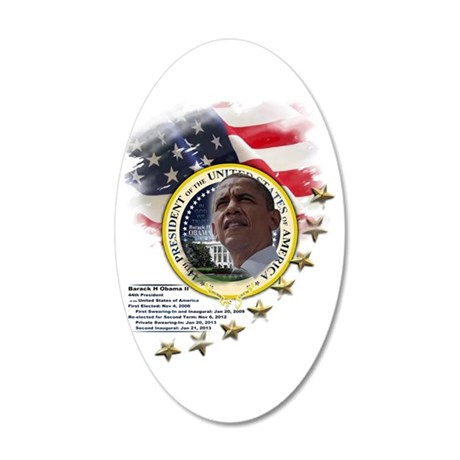 44th President: 20x12 Oval Wall Decal