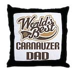 Carnauzer Dog Dad Throw Pillow