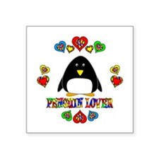"""Penguin Lover Square Sticker 3"""" x 3"""""""