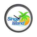 Singer Island Wall Clock
