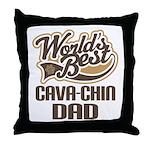 Cava-Chin Dog Dad Throw Pillow