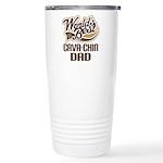 Cava-Chin Dog Dad Ceramic Travel Mug