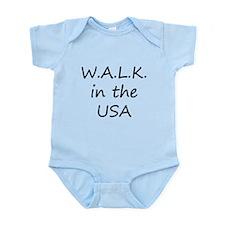 W.A.L.K. in the USA Infant Bodysuit