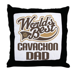 Cavachon Dog Dad Throw Pillow