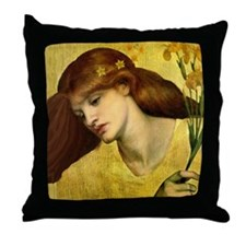 Sancta Lilias Throw Pillow