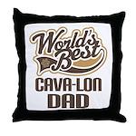 Cava-lon Dog Dad Throw Pillow