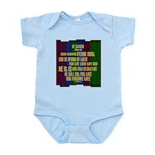 Deuteronomy 31 6 Faith Stripes Infant Bodysuit