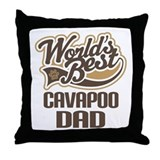 Cavapoo Dog Dad Throw Pillow