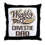 Cavestie Dog Dad Throw Pillow