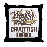Cavottish Dog Dad Throw Pillow