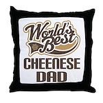 Cheenese Dog Dad Throw Pillow