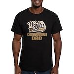 Chinaranian Dog Dad Men's Fitted T-Shirt (dark)