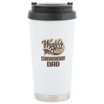 Chinaranian Dog Dad Ceramic Travel Mug