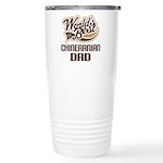 Chineranian Dog Dad Ceramic Travel Mug
