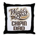 Chipin Dog Dad Throw Pillow