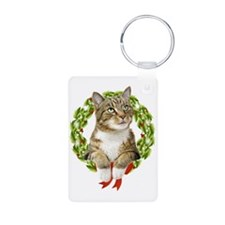Christmas Cat Keychains