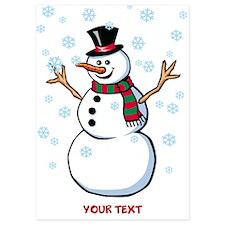 Custom Snowman 5x7 Flat Cards